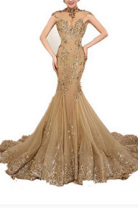 Prom Dresses,Prom Dresses Evening Dresses long,High Neck Prom Evening Dresses