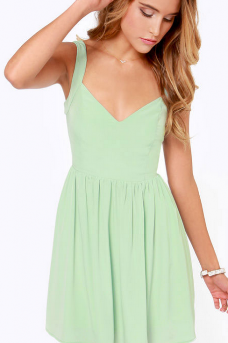 Backless Suspendered Chiffon Dress