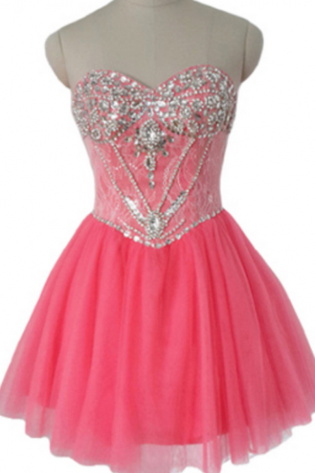 Red Beaded homecoming dress, homecoming dress, short homecoming dresses, homecoming