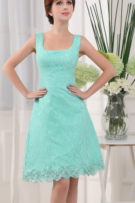 Lace Homecoming Dresses,Elegant Evening Dresses,Knee Length Cocktail Dresses,