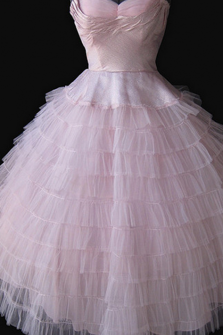 Pink Prom Dress,Tulle Prom Dress,Fashion Homecoming Dress,Sexy Party Dress,Custom Made Evening Dress
