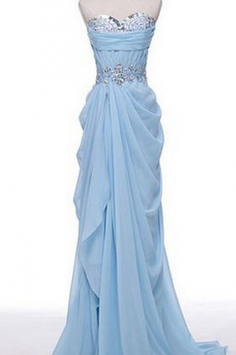 Charming Prom Dress,Chiffon Prom Dress,Sweetheart Prom Dress,Beading prom Dress,A-Line Evening Dress