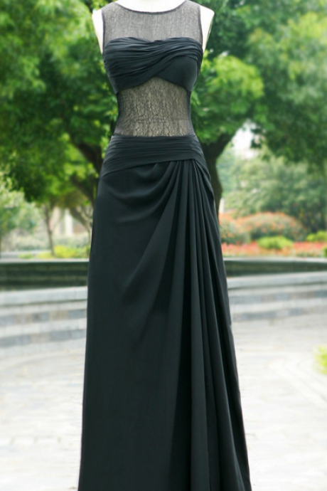 Evening Dresses,prom dress ,long prom dress ,lace prom dress O neck prom dress,V back prom dress
