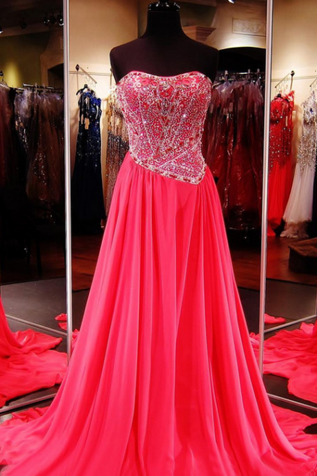 Hot Pink Prom Dress,Senior Prom Dress,Cheap Prom Gown,Custom Prom Dress,Prom Dress Long,Homecoming