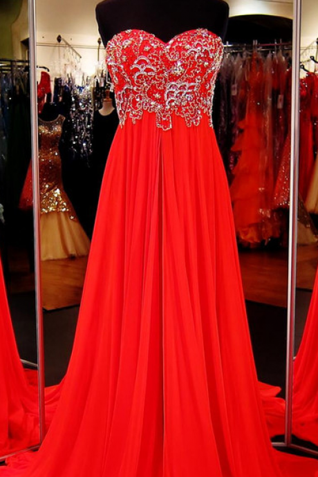 Red Prom Dress,Formal Dress,Prom Dress Empire Waist,Prom Gown,Prom Dress Long,Homecoming Dress