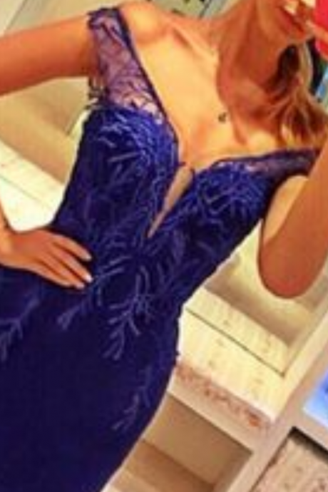 Prom Dress,royal blue Prom Dresses, Prom Dresses,royal blue Prom Dresses,off the shoulder Evening Dress,Formal