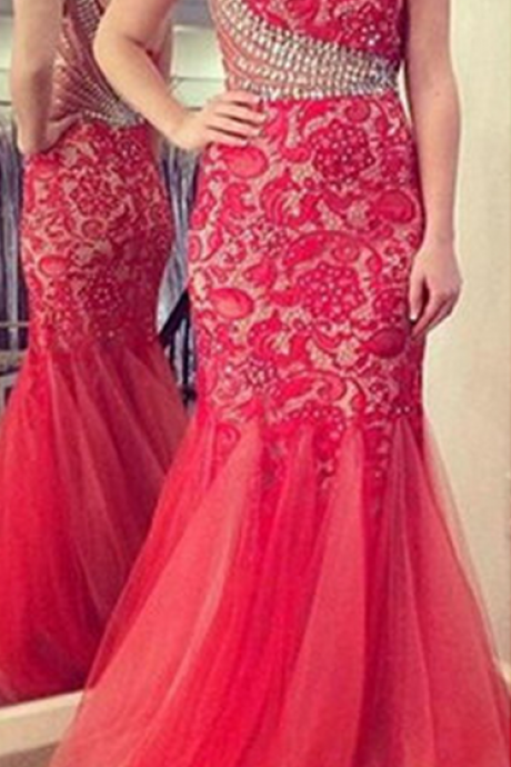 Prom Dress, One Shoulder Prom Dress, Prom Dress, Mermaid Prom Dress, Lace Prom Dress, Tulle Prom Dress,