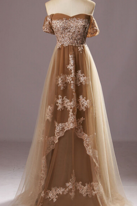 Prom Dress,New Off the Shoulder Lace Prom Dresses, Floor-Length Evening Dresses,Prom Dresses,
