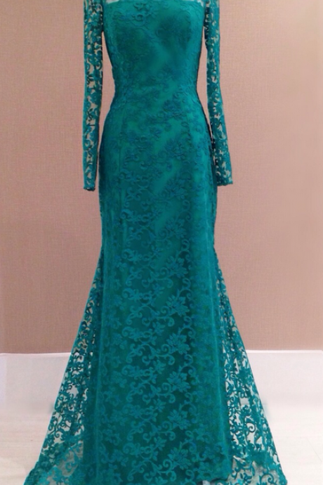 Prom Dress,Classy Lace Prom Dresses,Beading Long Sleeves Evening Dress,Backless Party Dress