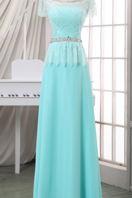 Prom Dresses,Evening Dress,Party Dresses,Prom dress/evening dress with beadings,cheap baby blue long