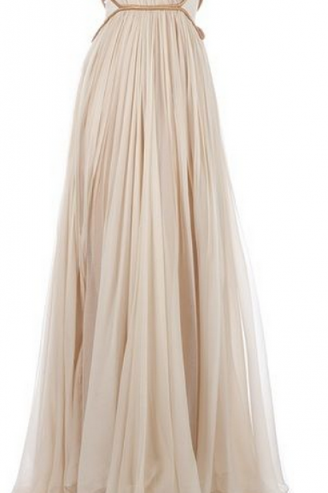 Custom Charming Chiffon Prom Dress,One Shoulder Evening Dress