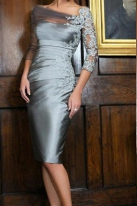 Mother of the Bride Dress , Grey Mother of the Bride Dresses, Elegant Mother of the Bride Dress,