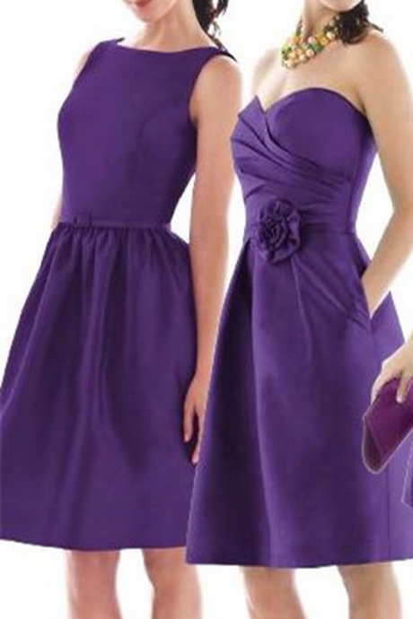 Charming Short Bridesmaid Dress,Satin Prom Dress,Fashion Bridesmaid Dresses,Sexy Party Dress, New Style Evening Dress