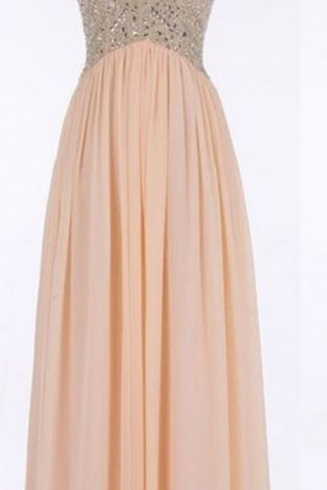 Sweetheart Prom Dresses,V-Neck Prom Dresses,Long Prom Dresses,Chiffon Evening Dresses,Sleeveless Prom Dresses