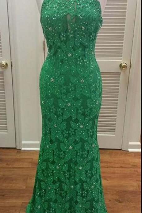 Lace Prom Dress,Backless Prom Dress,Beaded Prom Dress,Fashion Prom Dress,Sexy Party Dress, New Style Evening Dress