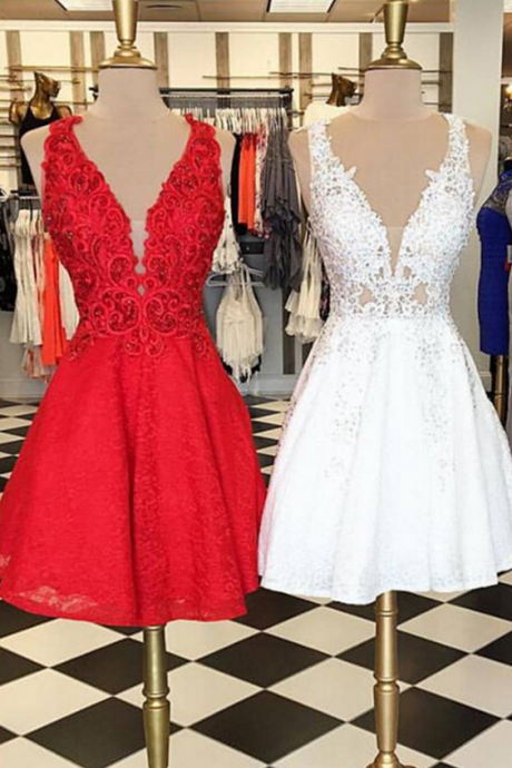 Lace Homecoming Dress, Homecoming Dresses,Short Homecoming Dress,Prom Party Dress,Prom Gown,Prom Dress
