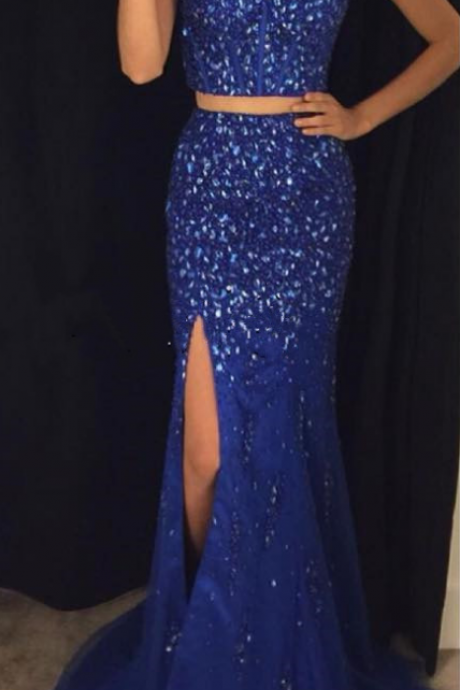 New Arrival Prom Dress,Modest Prom Dress,sparkly prom dresses,pageant gowns,two piece prom dresses,
