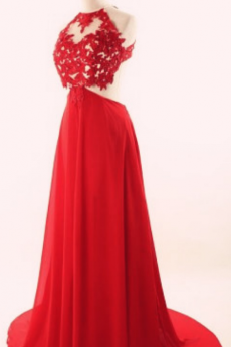 Long Red Prom Dresses,Appliques Prom Dresses,Chiffon Prom Dresses,Plus Size Prom Dresses,Evening Dresses,Open Back Prom Dress,Party Dresses