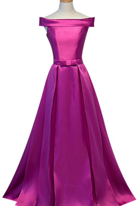 Simple purple pyjamas, evening gown