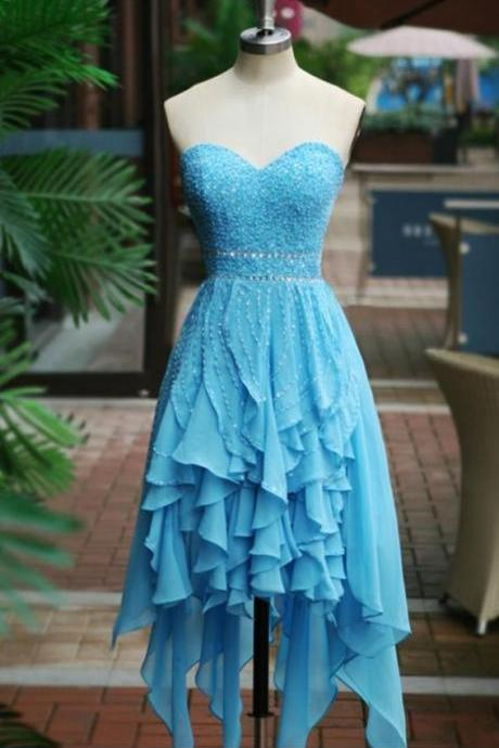 Homecoming Dress, Sweetheart Homecoming Dress,Sexy Homecoming Dress, Short Homecoming Dress, High Low Homecoming Dress