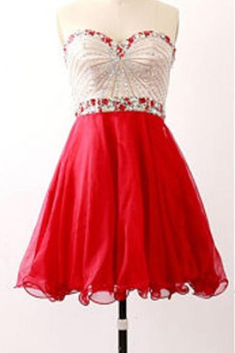 Homecoming Dress, Sweetheart Homecoming Dress, Beading Homecoming Dress, Sequin Homecoming Dress, Short Homecoming Dress,