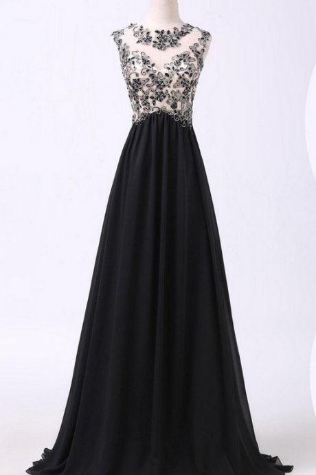 A Line Prom Dresses,Black Lace Prom Dress,Simple Prom Dress,Modest Evening Gowns