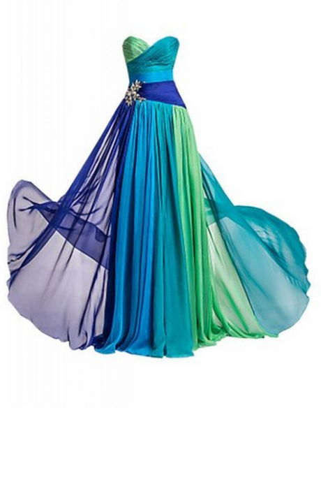 Strapless Rhinestone Chiffon Bridesmaid Evening Party Prom Dress dresses