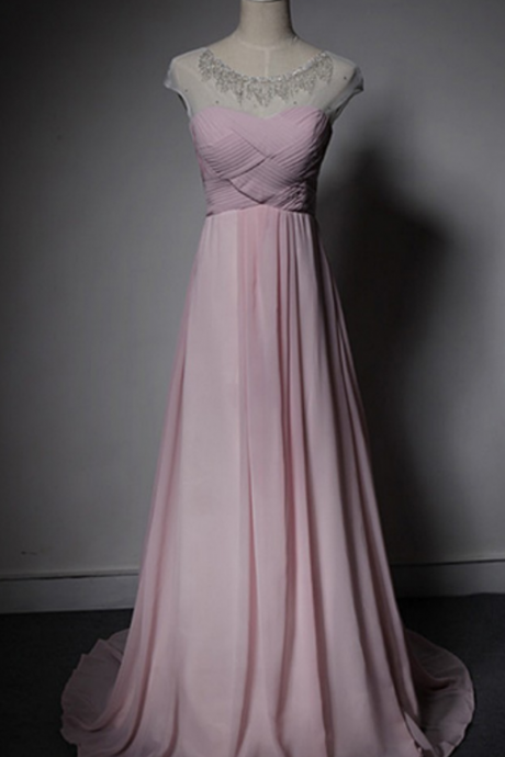 Charming Prom Dress,Sexy Prom Dress,Pink Prom Dresses,Long Evening Dress,Formal Dress