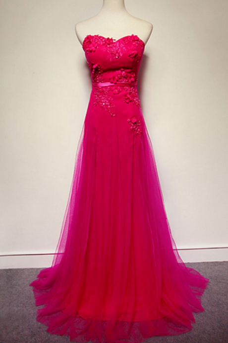 Red Prom Dress, Red Tulle Prom Dresses, Long Red Prom Dress, Red Evening Dress, Red Prom Gowns