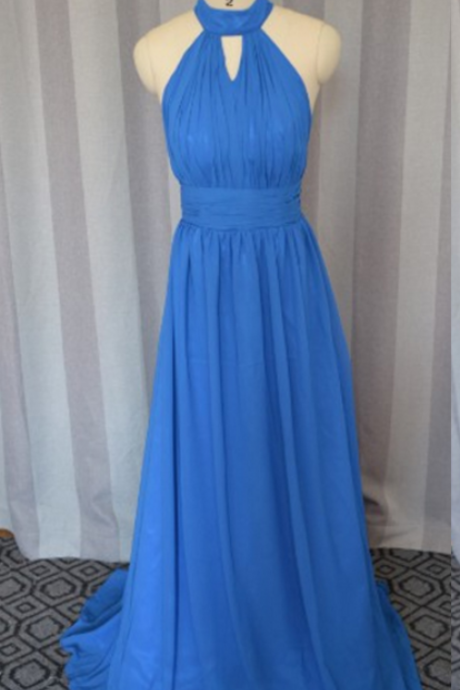 High neck prom dress, sexy prom dress,chiffion prom dress, high quality hand made prom dress, elegant wowen dress, party dress,