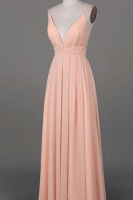 Simple prom dress,long prom dress,chiffion prom dress,pink prom dress,sexy prom dress,elegant wowen dress,party dress