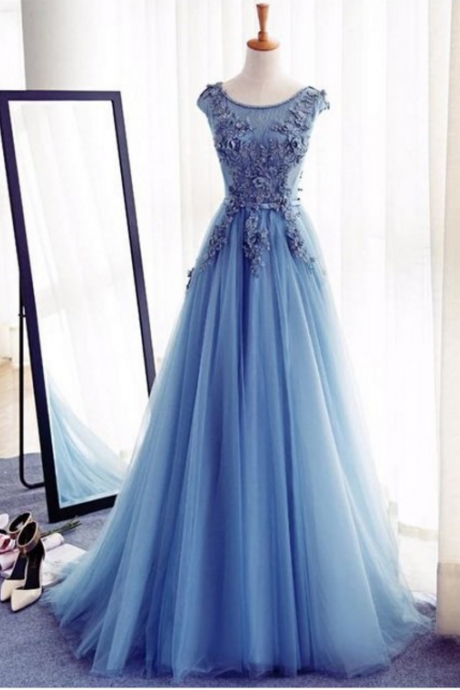 Appliques A-Line Prom Dresses,Long Prom Dresses,Cheap Prom Dresses, Evening Dress Prom Gowns, Formal Women Dress,Prom Dress