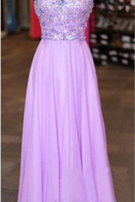 Pale purple ball gown with ball gown.