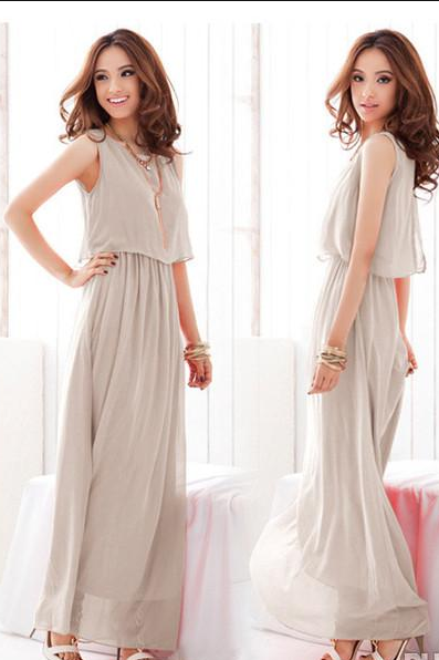New Cheap Floor-length Dresses A-Line Cap Sleeve Dresses Sexy Evening Gowns Beach Plus Size Party Dresses