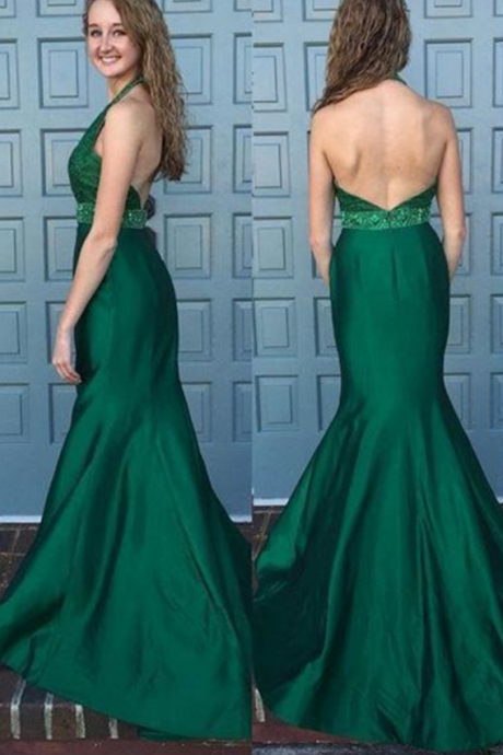 Green Satin Prom Dress,Mermaid Prom Dress,Elegant Prom Dress,Women Prom Dress,Charming Prom Dress