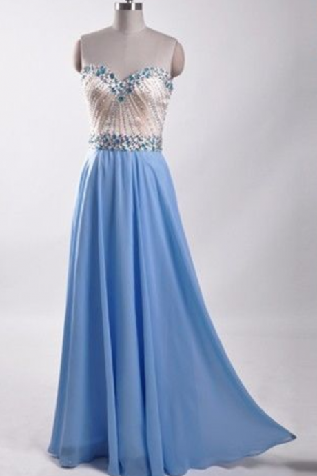 Elegant Evening Dresses,Long Formal Gowns,Beaded Party Dresses,Chiffon Pageant Formal Dress,Backless Prom Dresses