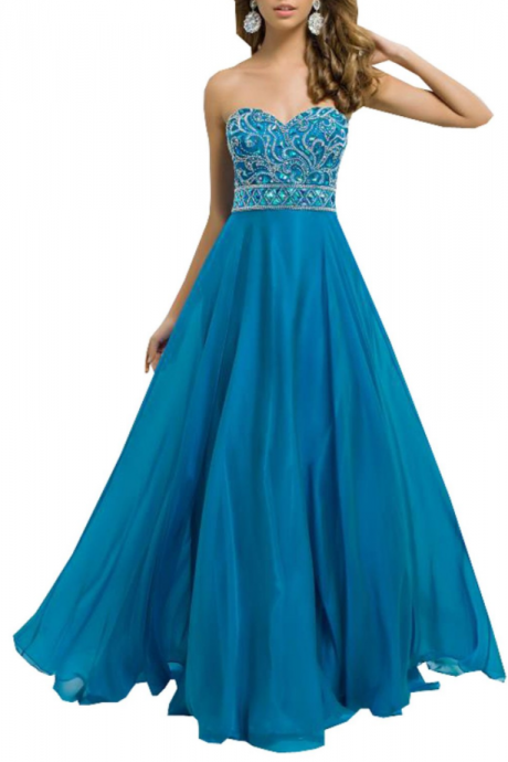 party dresses dand prom gowns a Line Sweetheart Chiffon Formal Long Prom Dress with Beads home dresses