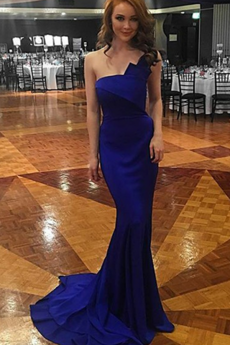 bule mermaid prom dress,evening gowns,Simple Prom Dress,Elegant Evening Dress,simple prom dresses,Elegant Prom Gown