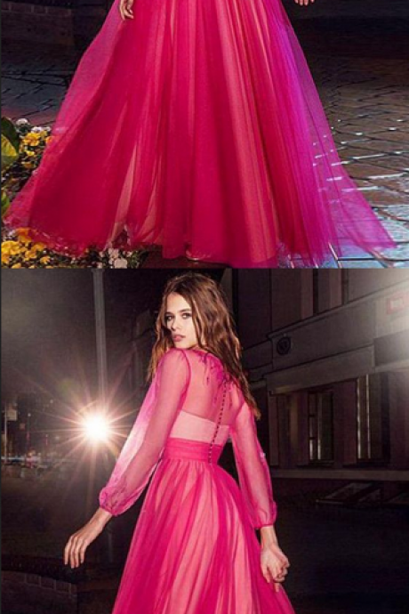 Simple Prom Dresses, Long Sleeves Prom Dresses, Prom Dresses For Cheap, Prom Dresses