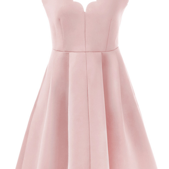 Simple A-Line Spaghetti Straps Pink Satin Short Homecoming Dress With Pleats