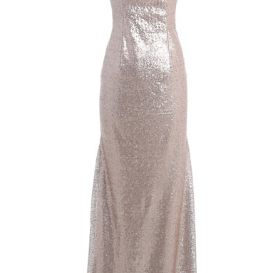 Round Neck Bridesmaid Dresses, Sequin Bridesmaid Dresses, Mermaid Bridesmaid