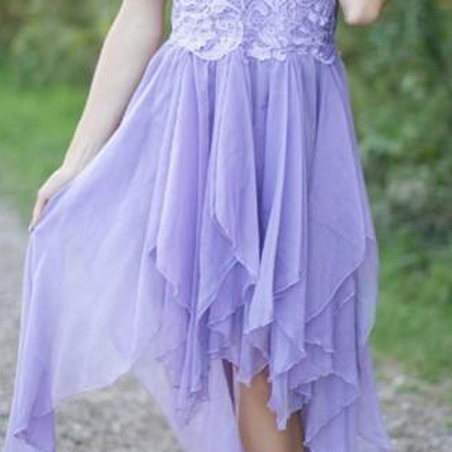 Elegant Homecoming Dresses,High-low Homecoming Dresses,Lace Homecoming Dresses