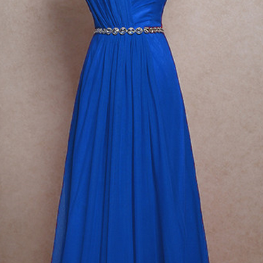 Royal Blue chiffon Prom Dresses Evening dresses