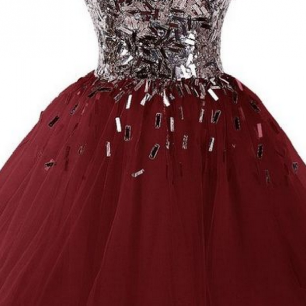 Polyvore featuring dresses, sparkly dresses, short prom dresses, short dresses, red gown, red evening gowns, sweetheart homecoming dresses