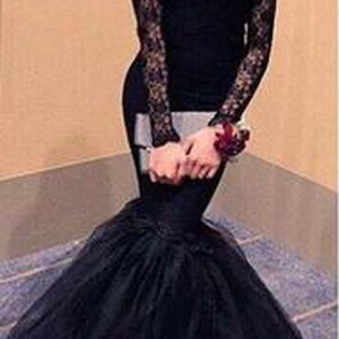 New Arrival Black Prom Dresses,sexy Prom Gown,mermaid Prom Dresses