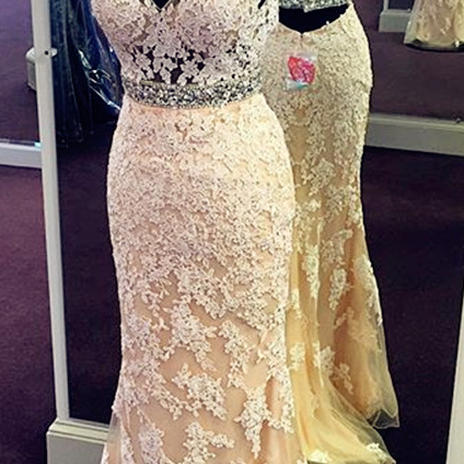 New Arrival Prom Dress,Modest Prom Dress,halter Prom Dress,lace Prom Dress