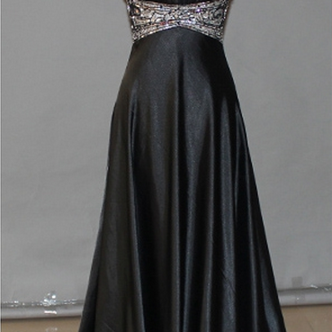 Black Prom Dresses,Backless Prom Dress,Organza Prom Dress,Simple Prom Dresses,
