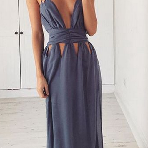 New Arrival Prom Dress,Chic long prom dresses, A-line V-neck prom dresses