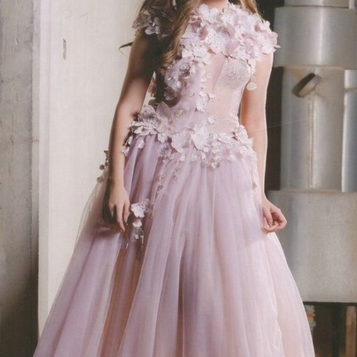 Sexy Pink Lace Prom Dress,Sheer Tulle Prom Dresses,Lace Formal Dress,Sexy Prom Dress,Party Dress,