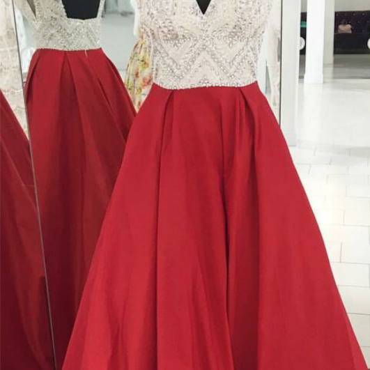 Red Sweetheart Sheath Slit Prom Dress,Sheer Evening Gown With Prom Dresses